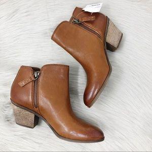 NWT Frye Judy Zip Leather Cognac Bootie